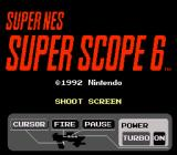 Super NES Super Scope 6 SNES Title screen.
