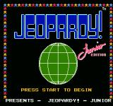 Jeopardy! Junior Edition NES title screen 2