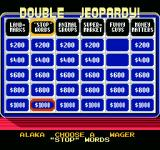 Jeopardy! Junior Edition NES amounts are doubled in double jeopardy