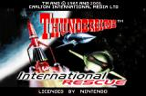 Thunderbirds: International Rescue Game Boy Advance Title screen