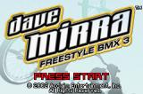 Dave Mirra Freestyle BMX 3 Game Boy Advance Title screen