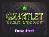 Gauntlet: Dark Legacy GameCube title screen