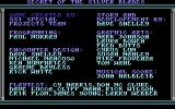 Secret of the Silver Blades Commodore 64 Credits
