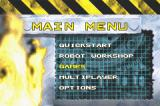 Robot Wars: Advanced Destruction Game Boy Advance Main menu
