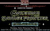 Gateway to the Savage Frontier Commodore 64 Title screen