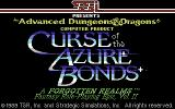 Curse of the Azure Bonds Commodore 64 Title screen