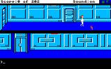 Space Quest: Chapter I - The Sarien Encounter Amiga You can use your mouse to walk around.
