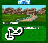 Antz Racing Game Boy Color Track information (Autumn, circuit#2 in the Park)