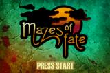 Mazes of Fate Game Boy Advance Title screen
