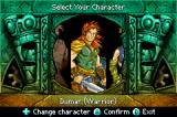 Mazes of Fate Game Boy Advance Select what class of character you want to play as
