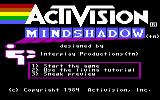Mindshadow Commodore 64 The title screen.
