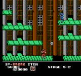 Ninja Crusaders NES Trying to avoid death