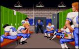 ABC Monday Night Football DOS The losing team is chewed out by the coach.
