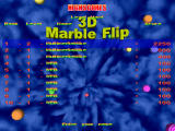 3D Marble Flip Windows High score screen