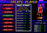 NBA Hang Time Genesis Create a player-screen