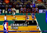 NBA Hang Time Genesis The score appears after every basket.