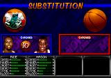 NBA Hang Time Genesis you can make substitutions at the half