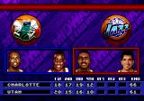 NBA Hang Time Genesis the score is broken down by each quarter