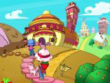 Strawberry Shortcake: Amazing Cookie Party Windows The Cookie Machine lies straight ahead. From this screen the player can travel any of three paths