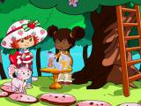 Strawberry Shortcake: Amazing Cookie Party Windows Orange Blossom request help to collect oranges for juice