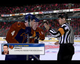 NHL 2002 Windows Thrashers' players are not agreed with referee.