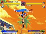 Waku Waku 7 Neo Geo Rai striking back Arina through his air-spinning-based WakuWaku Attack Dai Kaiten High Jump Touge...