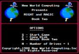Might and Magic II: Gates to Another World Apple II Main menu