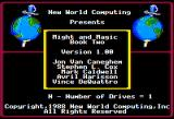 Might and Magic II: Gates to Another World Apple II Credits