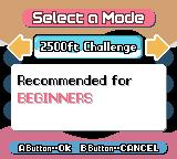 Mr. Driller Game Boy Color Select your difficulty