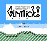 Mr. Gimmick NES Title Screen