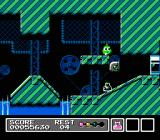 Mr. Gimmick NES Pushing the cannon ball launcher off the edge, let's see the balls roll uphill!