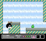 Mr. Gimmick NES And the boss falls before his might!