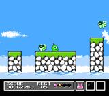 Mr. Gimmick NES Now in level 2. These enemies take two hits to kill