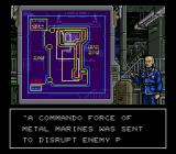 Metal Marines SNES The beginning of each mission offers a password and few options