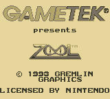 Zool Game Boy Publisher/Developer