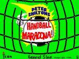 Peter Shilton's Handball Maradona! ZX Spectrum Loading screen