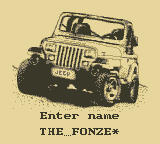 Jeep Jamboree: Off Road Adventure Game Boy Enter your name