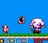 Mr. Nutz Game Boy Color Fighting with Little Clown...