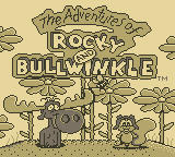 The Adventures of Rocky and Bullwinkle and Friends Game Boy Title Screen