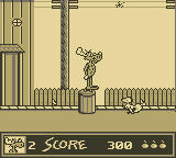 The Adventures of Rocky and Bullwinkle and Friends Game Boy Bullwinkle on the streets of Frostbite Falls