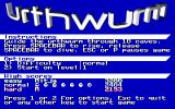 Urthwurm DOS Title screen