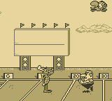 The Adventures of Rocky and Bullwinkle and Friends Game Boy Football mini-game