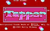 Tapper PC Booter Title screen (CGA with RGB monitor)