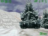 Snowmobile Championship 2000 Windows Direct 3D allows for smooth textures.