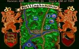 Conquests of the Longbow: The Legend of Robin Hood Amiga The map.