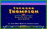 Typhoon Thompson in Search for the Sea Child Atari ST The title screen