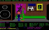 Maniac Mansion Commodore 64 In green tentacle's room.