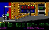 Zak McKracken and the Alien Mindbenders Commodore 64 Walking around town.