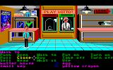 Zak McKracken and the Alien Mindbenders Amiga In Lou's Pawn Shop. Note the poster for Maniac Mansion on the wall.