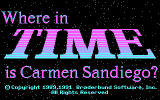 Where in Time Is Carmen Sandiego? DOS title screen - CGA